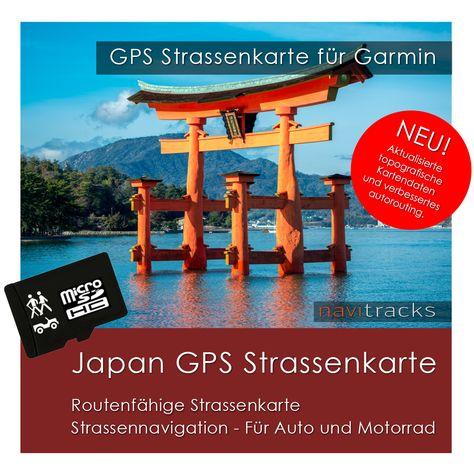 Japan GPS Strassenkarte Garmin. Mit Autorouting (4GB micro SD Karte) | navitracks - Die Kartenmanufaktur