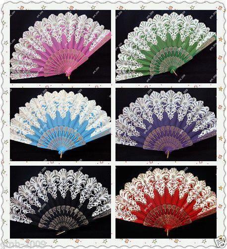 Spanish Style Dance Party Wedding Fantastic Lace Brocade Folding Hand Held Fan