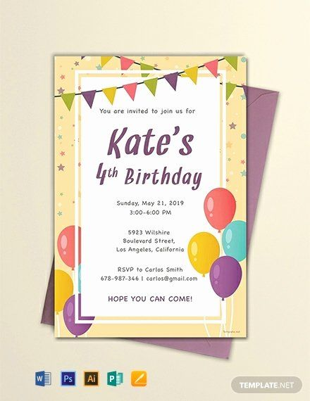 Word Birthday Invitation Template Luxury Free Email Birthday Invitation Templat Party Invite Template Free Birthday Invitations Free Party Invitation Templates