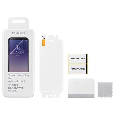 2x Original Samsung Galaxy S9 G960f Displayschutzfolie Screen Protector Et Fg960 Mit Bildern Handy Akku Samsung Folie