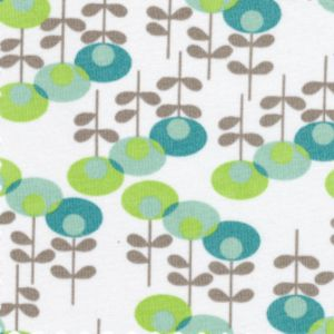 Fabric Finders House Designer Boden Pretty Poppies In Aqua And