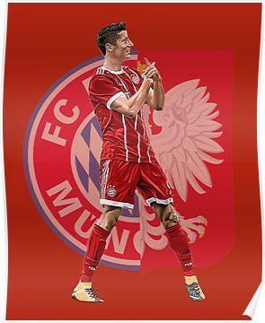 Robert Lewandowski 8 # Bayern Munich Striker Poster RL9 Tribut Foto