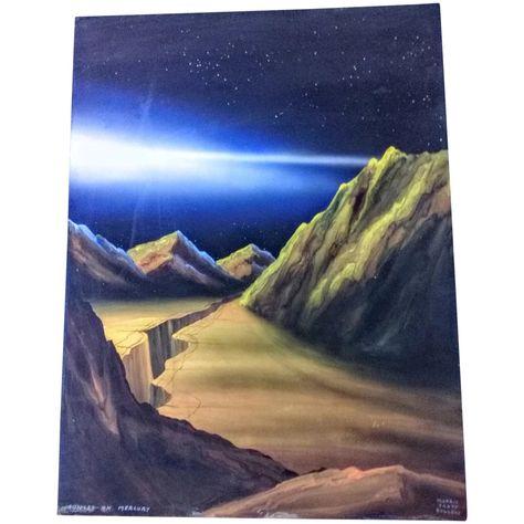 Morris Scott Dollens watercolor/Gouache painting,titled\
