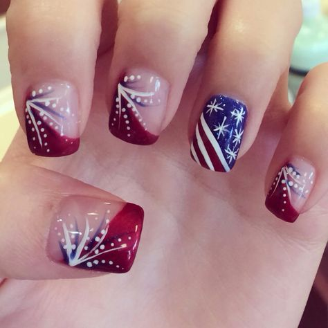 Fourth of July nail art by Ivy Nguyen