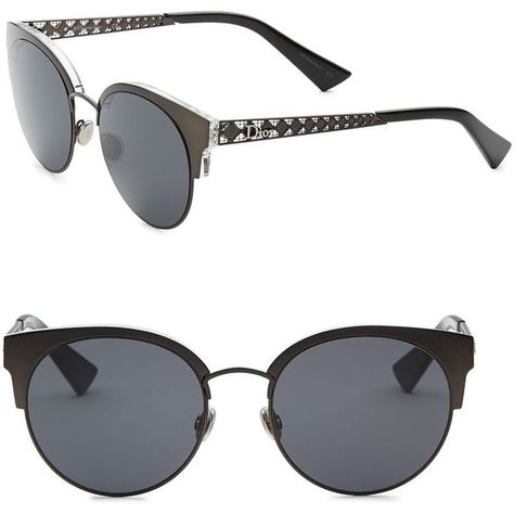 9259af52ae Dior Diorama Mini 54MM Mirrored Cat Eye Sunglasses (7.432.020 IDR) ❤ liked  on Polyvore featuring accessories