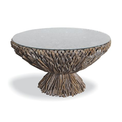 Portland Driftwood Round Coffee Table Coffee Side Tables