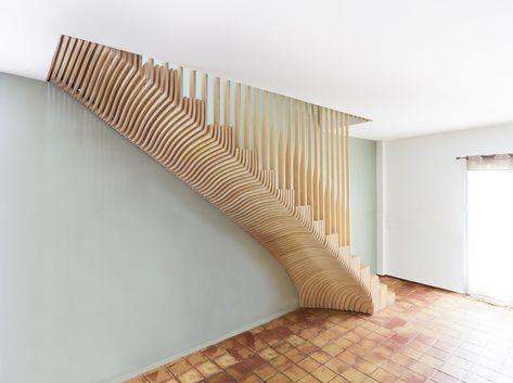 From Wao Architecture Parametric Staircase Escalier Escalier Beton Architecture