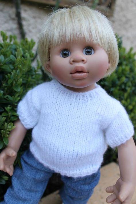 21f8d14f3507e Gabin   Tuto manches courtes pour poupées Wichtel (32 cms) - Les créas de  Nathalie
