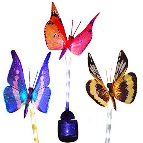 Solar Power LED Lights Butterfly Garden Lawn Yard Decorations Landscape
