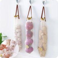 Hanging Type Air Bag Containing Vegetable Hollow Portable Handle Multifunctional Garlic Onion Hangin