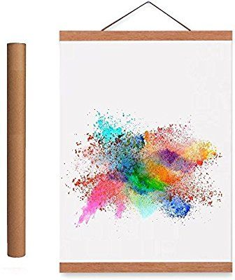 Poster Frame,Magnetic Light Wood Wooden Frame Hanger for Photo Picture Canvas