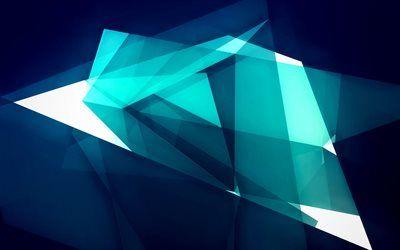 Download Wallpapers 4k Geometric Shapes Blue Background Splinters Creative Artwork Geometric Figures Geometry Besthqwallpapers Com Abstract Wallpaper Christmas Wallpaper Backgrounds Abstract
