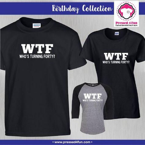 cd2f0b32c Birthday Shirt Who's Turning 40 Design | 40th Birthday Shirts | Birthday  Gift | 40th | Best selling