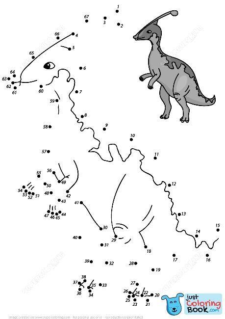 Parasaurolophus Dot To Dot Free Printable Coloring Pages For Free Download Parasaurolophus Coloring Pages Coloring Pages Free Printable Coloring Dots Free Printable dinosaur worksheets pdf