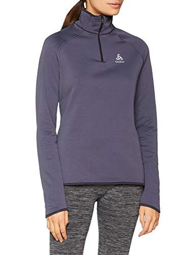 ODLO Womens Mid-Layer Full Zip Carve Warm Pullover