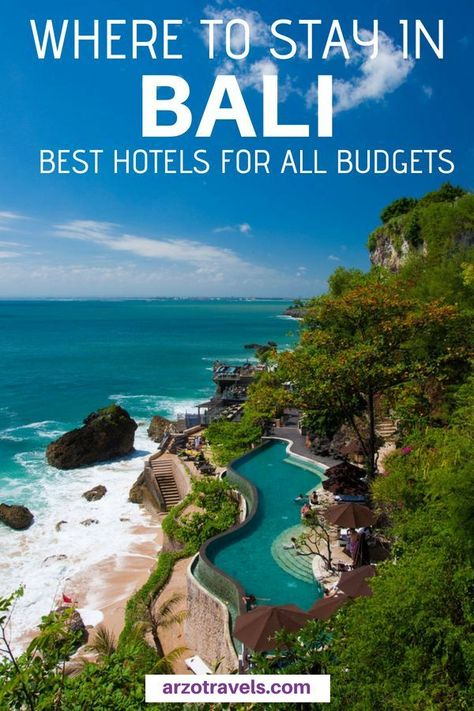 Bali offers great value for money and if you plan your trip to the Indonesian island you can find out about the best places to stay in Bali for all budgets I Luxury hotels in Bali I Budget hotels in #Bali I Where to stay in Bali I #BudgetVacation