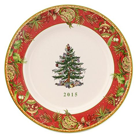 Spode Christmas Tree Annual Edition 2015 Collector Plate Multicolor This Is An Amazon Affiliate Lin Christmas Dinnerware Spode Christmas Tree Spode Christmas