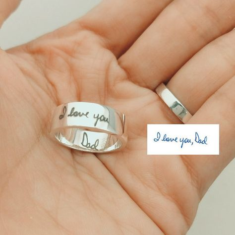 Hey, I found this really awesome Etsy listing at https://www.etsy.com/listing/259701963/handwriting-ring-memorial-signature