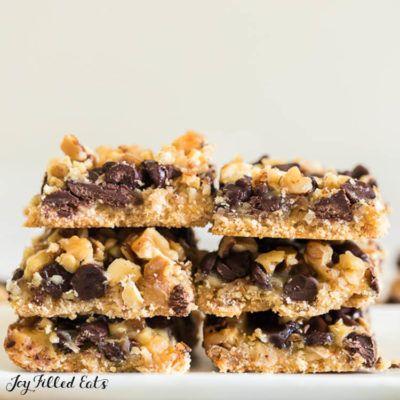 Magic Cookie Bars Low Carb Keto Gluten Free Grain Free Thm S