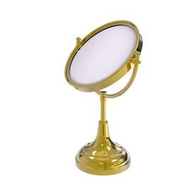 Allied Brass 8 In Vanity Top Make Up Mirror 4x Magnification In Polished Brass Dm 2 4x Pb Makeup Mirror Allied Brass Unlacquered Brass
