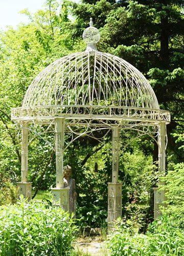 Large Iron Garden Gazebo Valiko Antique White In 2020