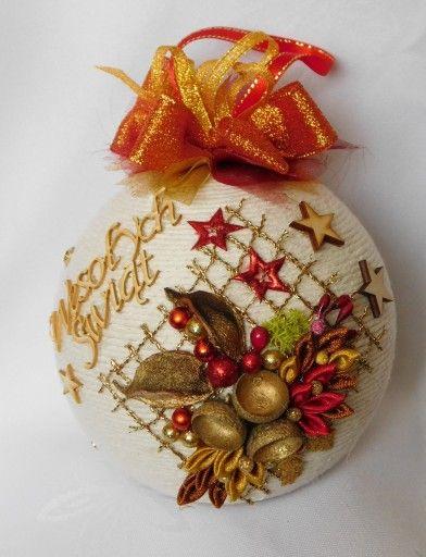 Bombka Sznurkowa Na Choinke Prezent Rekodzielo 8098311932 Oficjalne Archiwum Allegro Christmas Decorations Christmas Crafts Christmas Ornaments