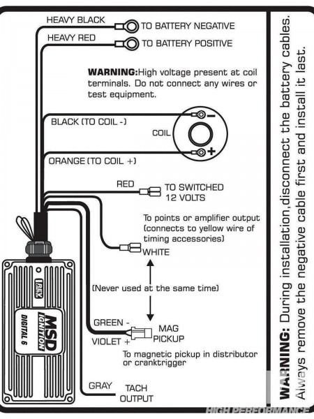 Msd 6btm Wiring Diagram Wire Automotive Electrical Msd - msd digital 6al ignition wiring diagram