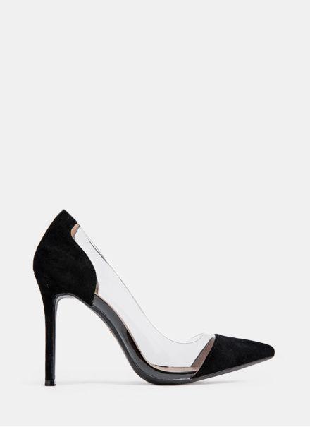 Deezee Czarne Szpilki Z Transparentnymi Wstawkami Icon W Sklepie Deezee Pl Shoes Heels Pumps