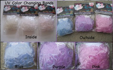 Friendship Looms Clear Uv Colour Changing Loom Bands