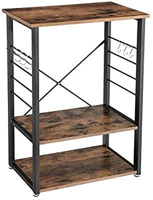 Vasagle Industrial Kitchen Baker S Rack Microwave Oven Stand With