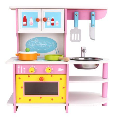 Toys Kids Wooden Kitchen Toy Kitchen Wooden Kitchen