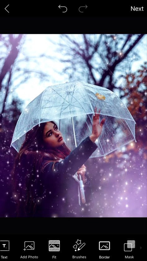 Give any rainy day photo a surreal makeover in just a two easy taps with PicsArt ☔️✨ First apply the MIL2 FLTR, then add a Sparkle Mask of your choice — that's it 🤘