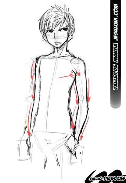 Taller De Manga Como Dibujar Un Chico Manga Dibujos De Hombres Bocetos Del Cuerpo Humano Dibujos De Ojos