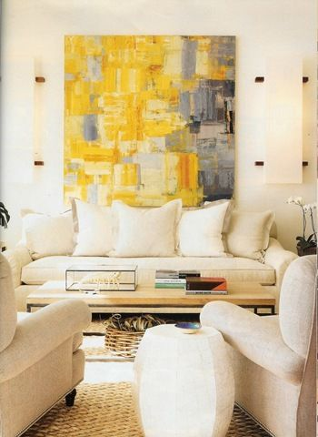 Yellow + Grey + Cream Living Room Love The Painting Part 91