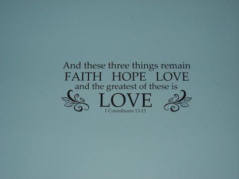FAITH HOPE LOVE 1 Corinthians 1313 matte by CutesyandCreative, $15.00
