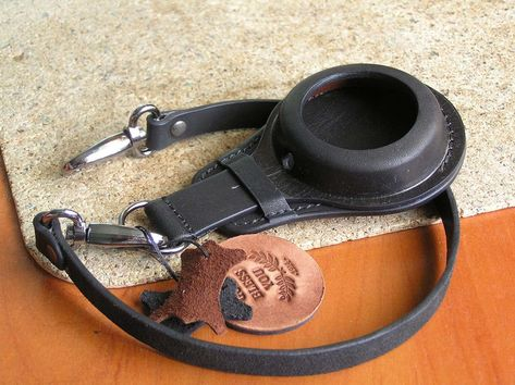 Strap for pocket watch 48-54mm black. Soldier watch band. ww1 military watch strap. genuine leather. Cup holder for wathes IWC, Omega, Doxa