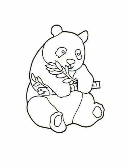Simple Baby Panda Coloring Page For Childrens Panda Coloring Pages Bear Coloring Pages Cute Coloring Pages