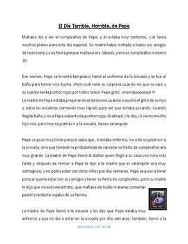 El Día Terrible, Horrible, de Pepe (Spanish) | Los recuerdos