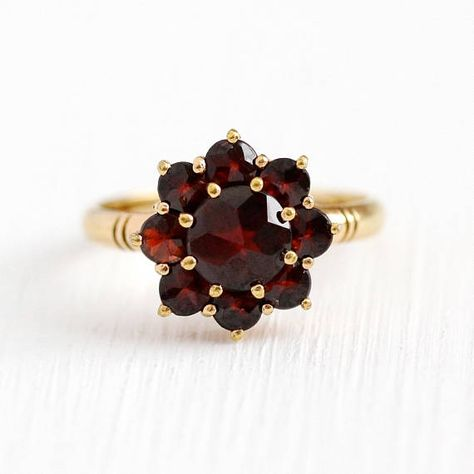 Real Gemstones Round Faceted Garnet Rings Handmade Jewelry Highest Selling Shops Gift for mom Birthday Bridesmaid Ring Solid Silver Red Garnet Real Gemstones Ring