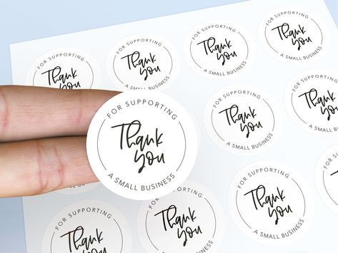 Thank you for supporting a small business, Thank you Stickers, Small Business, Cursive Font, Round Stickers Clothing Packaging, Jewelry Packaging, Fashion Packaging, Boheme Boutique, Business Thank You Cards, Vintage Business Cards, Brand Packaging, Packaging Ideas, Packaging Stickers