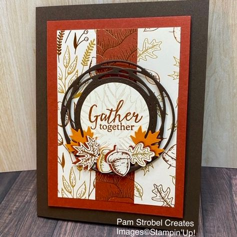 Thanksgiving Cards, Holiday Cards, Christmas Cards, Prim Christmas, Homemade Christmas, Halloween Cards, Fall Halloween, Harvest Moon, Stampin Up Karten