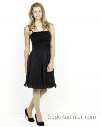 14 Yas Abiye Elbise Siyah Kisa Ip Askili Tul Etekli The Dress Sirin Elbiseler Elbise