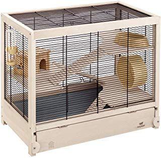 Ferplast Hamsterville Hamster Habitat Cage Sturdy Wooden Structure Black Hamster Cages Hamster Cage Hamster Habitat