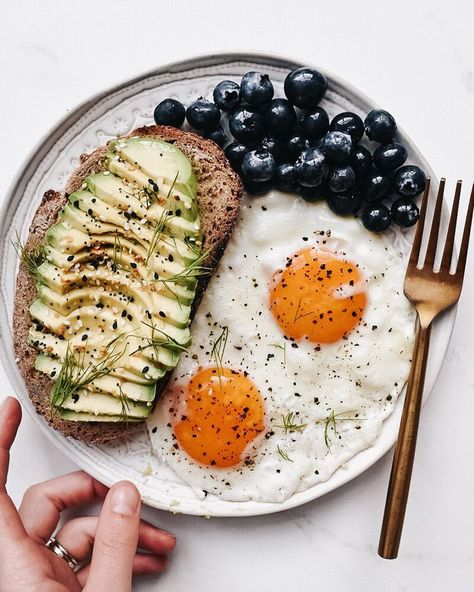 Fried Eggs and Avocado Toast Breakfast Plate recipe by CHERLYN | The Feedfeed