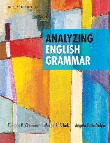 Analyzing English Grammar (7th Edition) - Default