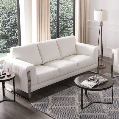 Stefan Leather Sofa Upholstery Color White White Leather Sofas Leather Couches Living Room White Leather Couch White leather sofa and loveseat