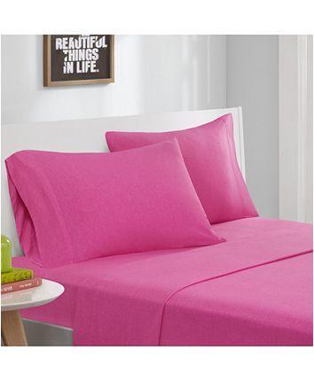 Jla Home Intelligent Design 3 Pc Jersey Knit Twin Sheet Set Reviews Sheets Pillowcases Bed Bath Macy S Sheet Sets Queen Twin Xl Sheet Sets Sheet Sets Full Jersey knit sheets twin xl