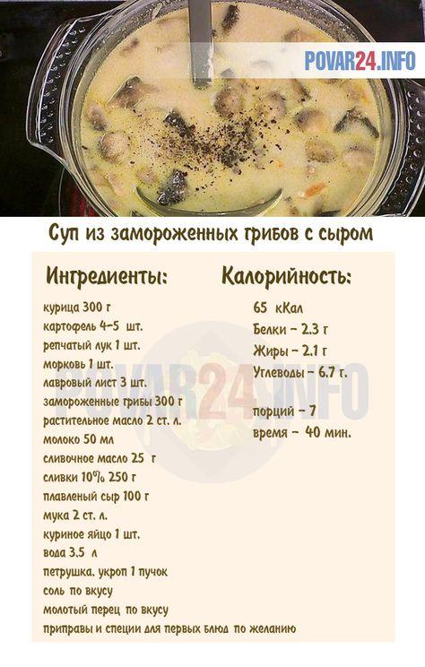 суп грибной обычный рецепт