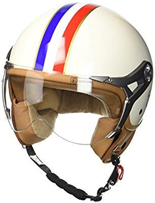 Casco Moto Beige SOXON SP-325 con parasol y bolsa de casco Imola 57-58cm ECE Certificado M
