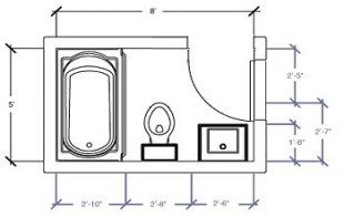 Bathroom Layout 5x6 64 Ideas Small Bathroom Plans Small Bathroom Floor Plans Small Bathroom Layout